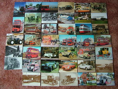 40 Postcards of MODES OF TRANSPORT. Used & Unused. Modern size.