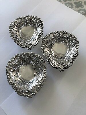 Pair Sterling Silver Pin / Nut Dishes - Mitchell Bosley & Co - Birmingham