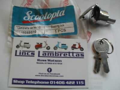 Lambretta scootopia s1/2  c.a.m.a. steering lock and keys.