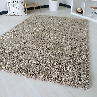 Small X Large Size Beige Thick Plain Soft Shaggy Non Shed Rug Modern Carpet Rugs