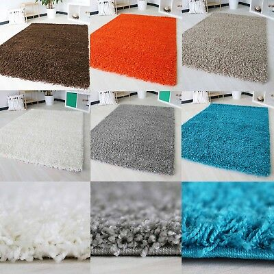 Small X Large Size Thick Plain Soft Shaggy Non Shed Rug Modern Carpet Rugs New