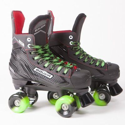 Bauer Quad Roller Skates NS - Senior - Outdoor Wheels UK 6-12 Sims, Aerobic, Zen
