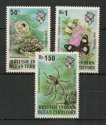 BIOT 1973 Insects Butterfly Schmetterlinge Papillons Jellyfish compl. set MNH