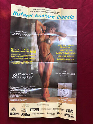 Janet Tech Natural Eastern Classic Female Bodybuilder Poster Free Shipping