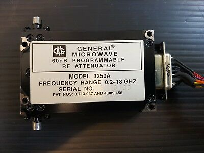 General Microwave 3250A Ultra-Broadband 6-Bit Digital PIN Diode Attenuator 18GHz