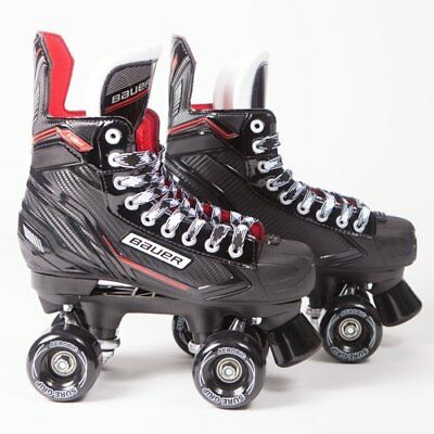 Bauer Quad Roller Skates NSX - Junior - Outdoor Wheels UK 1-5 Sims, Aerobic, Zen
