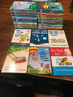 Lot of 55 DR. SEUSS Suess Beginner Books Newer Vintage Rare