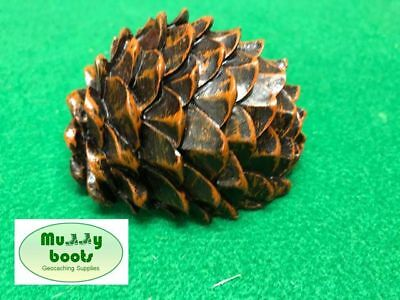Pinecone geocache complete with inner waterproof container and logbook