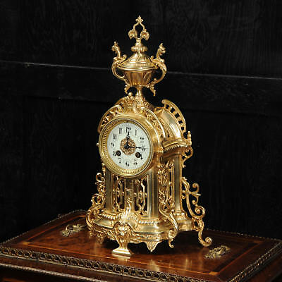 Antique French Gilt Bronze Clock by Samuel Marti C1900