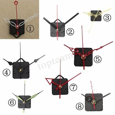 DIY Quartz Wall Clock Mechanism Movement Silent Hands Replacement Kit Set Parts