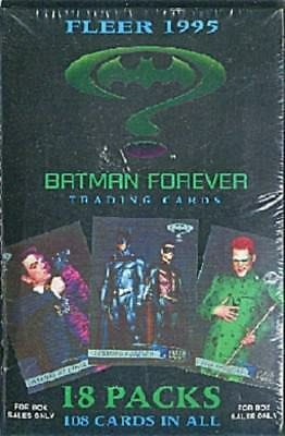 1996 Batman Forever motion picture movie box set, 18 packs, 108 cards in all MIP