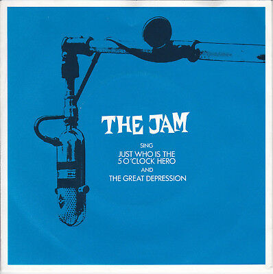 """THE JAM // *Just Who Is The 5 O'Clock Hero* // 7"""" // MOD! // PAUL WELLER"""