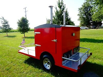Custom Competition Barbecue Smoker Cooker Grill Trailer Heavy Duty Industrial