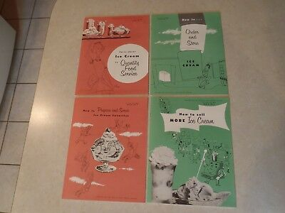 Vintage Ice Cream Profit Maker Booklets 1956 How To Sell Prepare Serve Facts Lot
