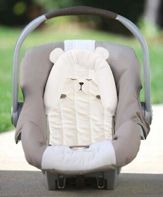 Eddie Bauer Baby Head Support for Car Seats, Strollers, and Swings, Bear, White