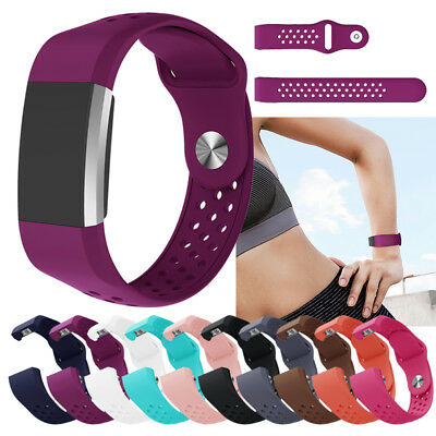 For Fitbit CHARGE 2 Wrist Band Silicone Casual Smart Soft