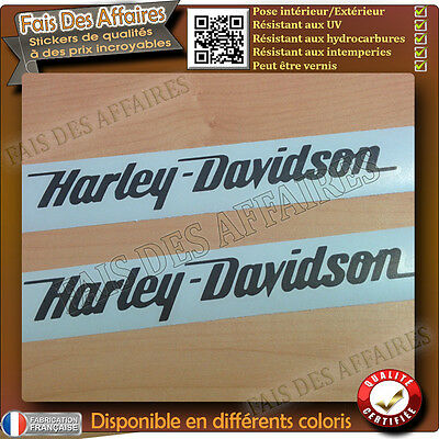 2 stickers autocollant harley davidson sticker deco moto casque