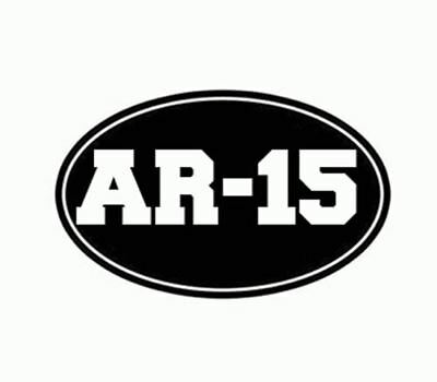 45 Cal 2A Rifle Arms Rights Ammo Window Decal Sticker Vinyl  White 5 Inches
