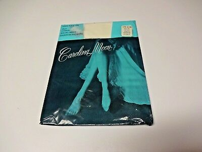 Vintage Carolina Moon Sheer Garter Stockings Size 9 Medium Nurse White - NIP