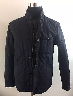 J.CREW MEN'S QUILTED NAVY BARN JACKET SZ MEDIUM - Thermore Warm
