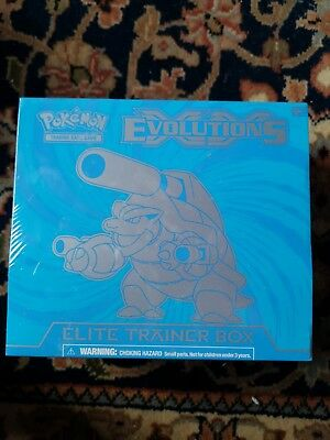 Evolutions Blastoise Elite Trainer Box Pokemon NEW SEALED with 8 Booster Packs