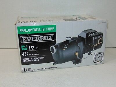 Everbilt 1/2 HP Shallow Well Jet Pump