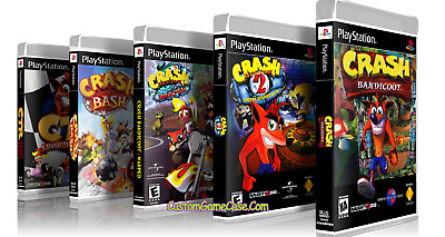Empty Custom Cases! Crash Bandicoot Collection Sony Playstation PS1 PS2 PS3
