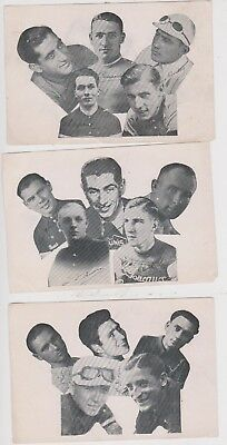 7 VINTAGE 1930's CARDS OF FRENCH CYCLE RACING RIDERS - GEORGES SPEICHER