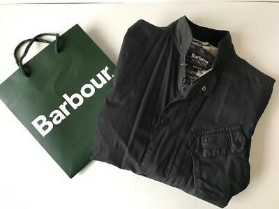 Barbour International Ouston Wax Jacket Black. Mens medium. Lightly worn.
