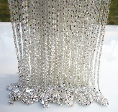 """LOTS 10PCS Silver plated Hollow Snake Chain Necklace With Lobster clasp, 22 """" L"""