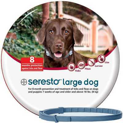 Bayer Seresto Flea and Tick Collar for Large Dogs over18lbs (8kg)