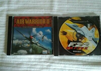 Cd - Computer  Windows Games ( 2 ) Air Warrior Ii And F*22
