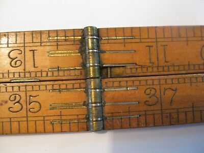 Rare 4 Foot Folding Rule By Buck & Hickman London