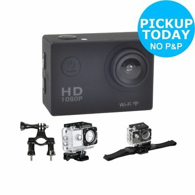 Vibe 2 Inch LCD 1080p HD 16MP Water Resistant Action Camera and Accessory Kit.
