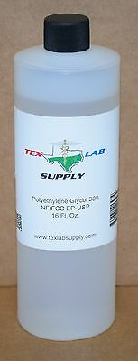 Tex Lab Supply Polyéthylène Glycol 300 (Crochet 300) Nf-Fcc/Ep-Usp 16.9 Fl. Oz