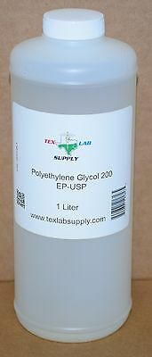 Tex Lab Supply Polyéthylène Glycol 200 (Crochet 200) Nf / FCC / Ep / Usp 1 Litre