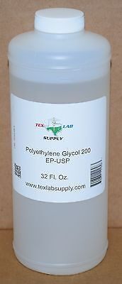 Tex Lab Supply Polyéthylène Glycol 200 (Crochet 200) Nf / FCC / Ep / Usp 32 Fl.