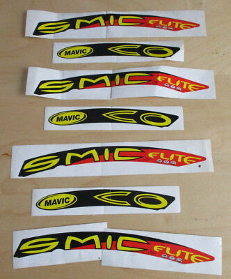 Wheel Decals//Stickers Set de 12 autocollants jaune Cosmic Elite 30mm