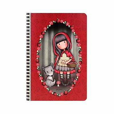 Gorjuss Santoro London A5 'Stitched' PVC Covered Notebook Little Red Riding Hood