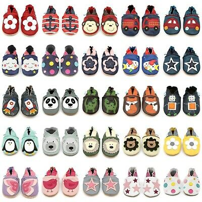 Dotty Fish Soft Sole Leather Baby Shoes Toddler Infant Girls/Boys 0-6mth- 4-5yrs
