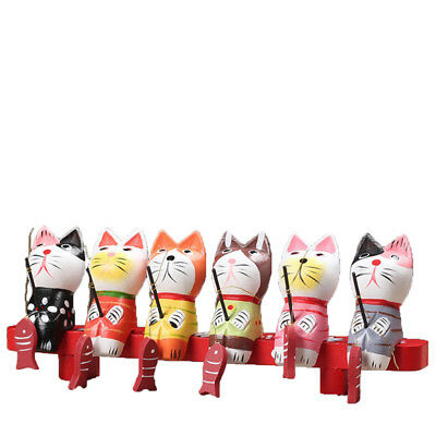 6x Realistic Flshing Cat Figurines Cat Statues Toy Gift for Kids Cat Lovers