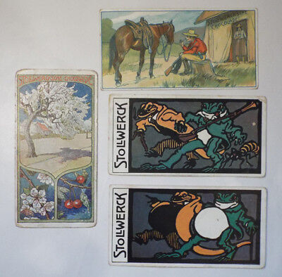 Victorian STOLLWERCK Chocolate Advertising Trade 4 Card Lot #2 Group 169 175 488