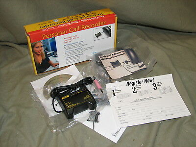 Digital Loggers Call Recorder/Software-Plugs Into Mic Dl-Personal-Logger *NEW*