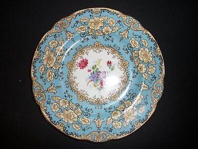 Wedgwood Porcelain Plate Hand-Painted Floral Singed 11 inch