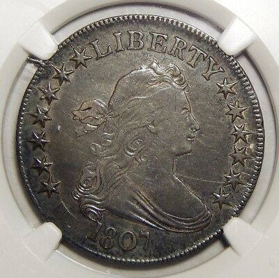 1807 Ngc Au50 Draped Bust Half Dollar