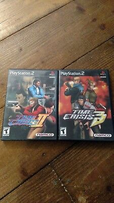 Time Crisis 2 PS2 + Time Crisis 3 PS2 PlayStation 2, complete with books TESTED