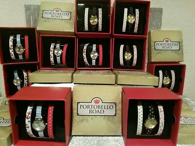 JOB LOT OF WATCHES WHOLESALE Portobello Road Ladies/Girls VALENTINES GIFTS Boxed