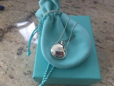 Tiffany & Co Sterling Silver Mini Round Bottle Pendant Necklace 18 In Picasso
