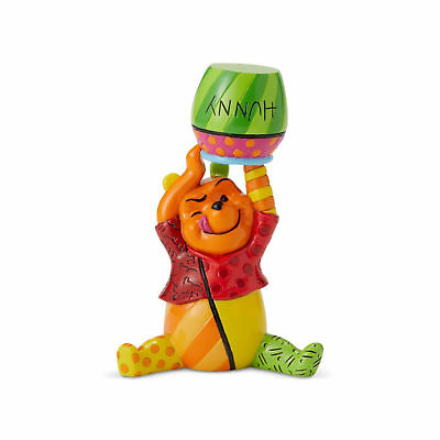 Disney Romero Britto 2018 Winnie the Pooh with Hunny Pot Mini Figurine 6001308