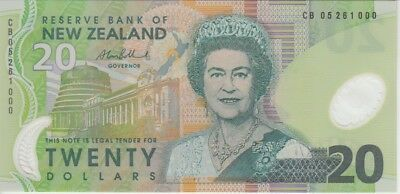 New Zealand Banknote P187b 20 Dollars 2005, QE II, UNC